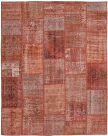Patchwork Rug 199X248 Authentic  Modern Handknotted Dark Red/Crimson Red (Wool, Turkey)
