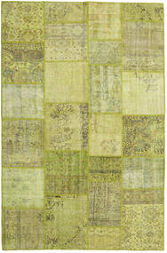 Patchwork Rug 198X303 Authentic  Modern Handknotted Olive Green/Light Green (Wool, Turkey)