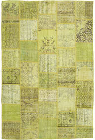 Patchwork Rug 196X298 Authentic  Modern Handknotted Olive Green/Yellow (Wool, Turkey)