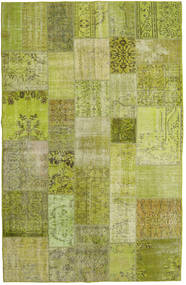 Patchwork Rug 196X304 Authentic  Modern Handknotted Light Green/Olive Green (Wool, Turkey)