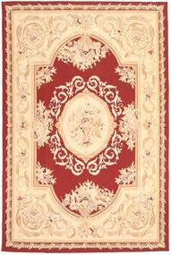Aubouson Rug 184X281 Authentic Oriental Handknotted Dark Beige/Beige/Dark Red (Wool, China)