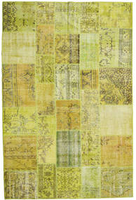 Patchwork Rug 200X300 Authentic  Modern Handknotted Yellow/Olive Green (Wool, Turkey)