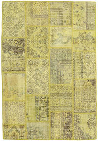 Patchwork Rug 158X233 Authentic  Modern Handknotted Yellow/Light Green/Olive Green (Wool, Turkey)