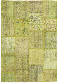 Patchwork Rug 159X231 Authentic  Modern Handknotted Olive Green/Yellow (Wool, Turkey)