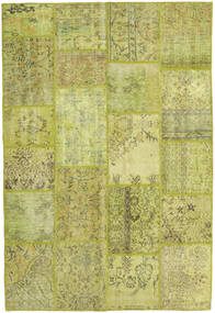 Patchwork Rug 158X234 Authentic  Modern Handknotted Olive Green/Yellow/Light Green (Wool, Turkey)