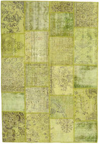 Patchwork Rug 156X232 Authentic  Modern Handknotted Light Green/Olive Green (Wool, Turkey)