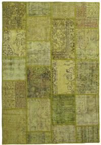 Patchwork Rug 158X232 Authentic  Modern Handknotted Olive Green/Dark Green (Wool, Turkey)