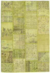 Patchwork Rug 158X233 Authentic  Modern Handknotted Yellow/Olive Green (Wool, Turkey)