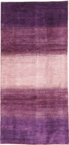 Gabbeh Persia Rug 128X280 Authentic Modern Handknotted Hallway Runner Dark Purple/Light Pink/Pink (Wool, Persia/Iran)