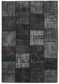 Patchwork Rug 158X234 Authentic  Modern Handknotted Dark Green/Dark Grey (Wool, Turkey)