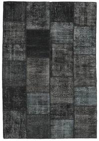 Patchwork Rug 158X233 Authentic  Modern Handknotted Dark Grey/Black (Wool, Turkey)