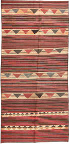 Kilim Fars Rug 140X320 Authentic  Oriental Handwoven Hallway Runner  Dark Red/Rust Red (Wool, Persia/Iran)