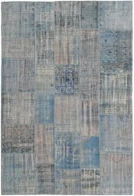 Patchwork Rug 204X303 Authentic Modern Handknotted Light Grey/Light Blue (Wool, Turkey)