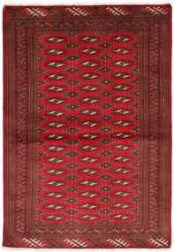 Turkaman Rug 101X147 Authentic  Oriental Handknotted Dark Red/Dark Brown/Crimson Red (Wool, Persia/Iran)