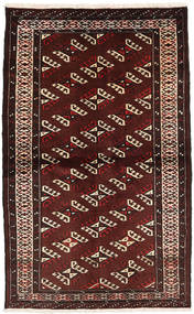 Turkaman Rug 102X163 Authentic  Oriental Handknotted Dark Red (Wool, Persia/Iran)