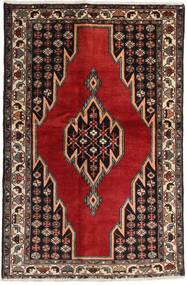 Afshar/Sirjan Rug 132X200 Authentic  Oriental Handknotted Dark Brown/Dark Red (Wool, Persia/Iran)