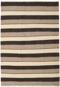 Kilim Rug 205X295 Authentic  Oriental Handwoven Dark Brown/Beige/Light Brown (Wool, Persia/Iran)