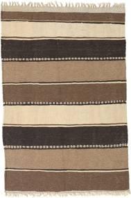 Kilim Rug 77X115 Authentic  Oriental Handwoven Brown/Beige/Dark Grey (Wool, Persia/Iran)