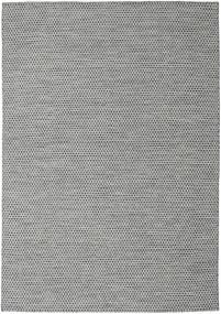 Kilim Honey Comb - Black/Grey Rug 240X340 Authentic  Modern Handwoven Light Grey/Turquoise Blue (Wool, India)