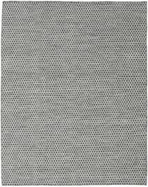 Kilim Honey Comb - Black/Grey Rug 190X240 Authentic  Modern Handwoven Light Grey/Dark Grey (Wool, India)
