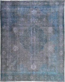 Colored Vintage Rug 298X383 Authentic  Modern Handknotted Dark Grey/Light Blue/Blue Large (Wool, Pakistan)