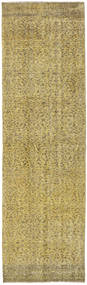 Colored Vintage Rug 85X275 Authentic  Modern Handknotted Hallway Runner  Olive Green/Light Green (Wool, Turkey)
