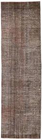 Colored Vintage Rug 81X276 Authentic  Modern Handknotted Hallway Runner  Brown/Light Brown (Wool, Turkey)
