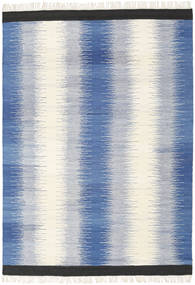 Ikat - Blue Rug 160X230 Authentic  Modern Handwoven Blue/Beige (Wool, India)