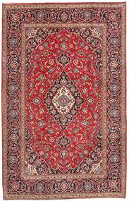 Keshan Rug 196X303 Authentic  Oriental Handknotted Dark Red/Light Purple (Wool, Persia/Iran)