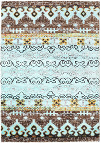 Quito - L. Blue Rug 140X200 Authentic  Modern Handknotted Turquoise Blue/Light Blue (Silk, India)