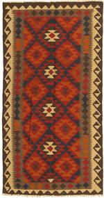 Kilim Maimane Rug 99X194 Authentic  Oriental Handwoven Rust Red/Dark Brown (Wool, Afghanistan)