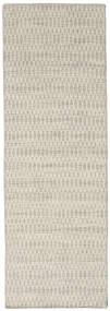 Kilim Long Stitch - Beige Rug 80X240 Authentic  Modern Handwoven Hallway Runner  Dark Beige/Light Grey (Wool, India)