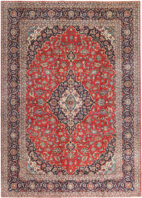 Keshan Patina Rug 275X385 Authentic  Oriental Handknotted Rust Red/Dark Red Large (Wool, Persia/Iran)
