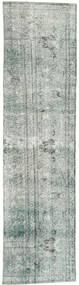 Colored Vintage Rug 70X295 Authentic  Modern Handknotted Hallway Runner  Dark Grey/Light Grey (Wool, Persia/Iran)