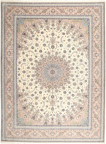 Isfahan Silk Warp Rug 315X420 Authentic Oriental Handknotted Light Grey/Beige Large (Wool/Silk, Persia/Iran)