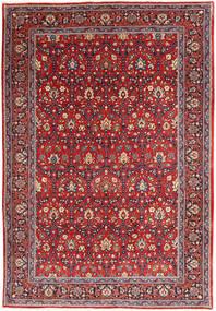 Varamin Rug 209X308 Authentic  Oriental Handknotted Dark Red/Dark Purple (Wool, Persia/Iran)