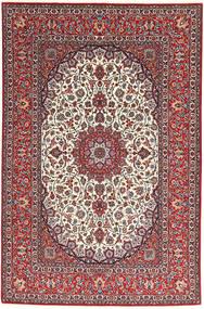 Isfahan Silk Warp Rug 155X240 Authentic  Oriental Handknotted Dark Red/Light Grey (Wool/Silk, Persia/Iran)