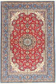 Isfahan Silk Warp Rug 152X227 Authentic  Oriental Handknotted Light Purple/Brown (Wool/Silk, Persia/Iran)