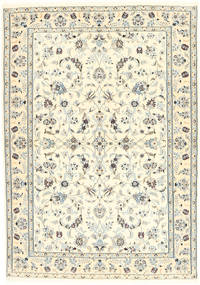 Nain 6La Rug 100X153 Authentic  Oriental Handknotted Beige/Light Grey (Wool/Silk, Persia/Iran)