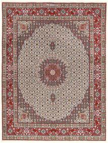 Moud Rug 150X200 Authentic  Oriental Handknotted Light Grey/Dark Red (Wool/Silk, Persia/Iran)