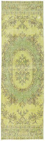 Colored Vintage Rug 82X270 Authentic  Modern Handknotted Hallway Runner  Light Green/Yellow (Wool, Turkey)