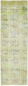 Colored Vintage Rug 85X276 Authentic  Modern Handknotted Hallway Runner  Light Green/Beige (Wool, Turkey)