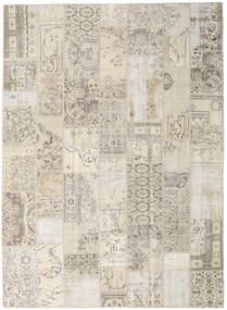 Patchwork Rug 253X348 Authentic  Modern Handknotted Light Grey/Beige Large (Wool, Turkey)