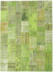Patchwork Rug 273X372 Authentic  Modern Handknotted Light Green/Olive Green Large (Wool, Turkey)