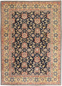 Sarouk Patina Rug 195X277 Authentic Oriental Handknotted Dark Beige/Black (Wool, Persia/Iran)