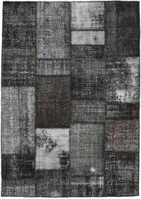 Patchwork Rug 161X230 Authentic  Modern Handknotted Dark Grey (Wool, Turkey)