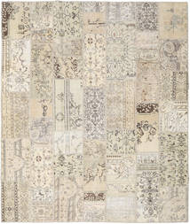 Patchwork Rug 252X300 Authentic Modern Handknotted Light Grey/Beige Large (Wool, Turkey)