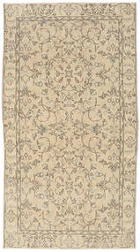 Colored Vintage Rug 111X202 Authentic  Modern Handknotted Beige/Light Grey (Wool, Turkey)