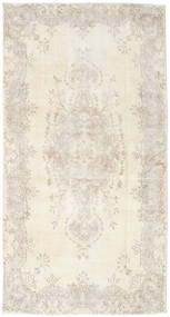 Colored Vintage Rug 118X230 Authentic  Modern Handknotted Beige/Light Grey (Wool, Turkey)