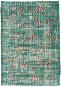 Colored Vintage Rug 189X258 Authentic  Modern Handknotted Turquoise Blue/Pastel Green (Wool, Turkey)
